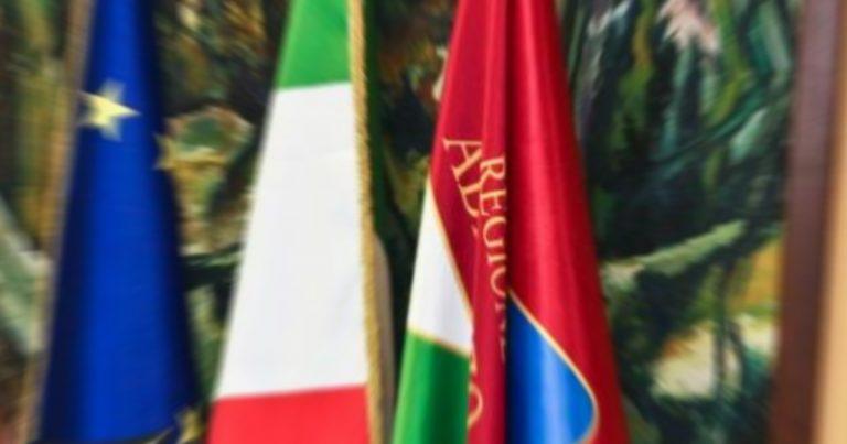 Regione Abruzzo: ultime news, Giunta: i provvedimenti approvati nella seduta odierna